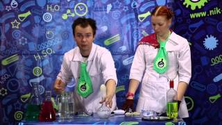 Шоу профессора Николя - Взрыв шарика с водородом!