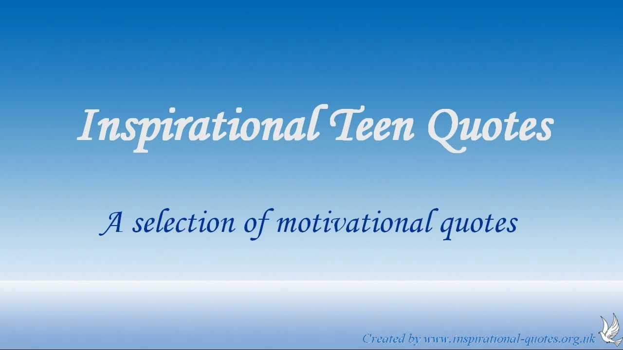 Inspirational Quotes For Teens. QuotesGram |Short Positive Quotes For Teens