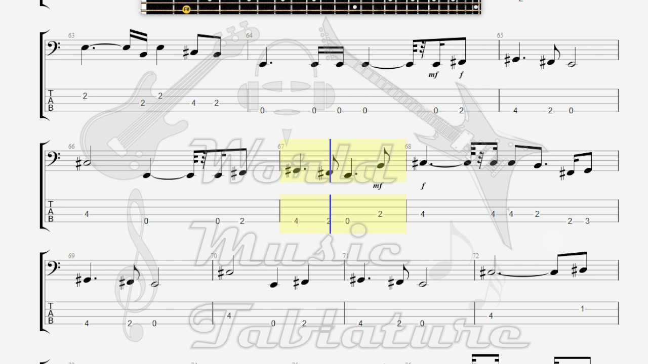 Dire Straits Brothers In Arms Bass Guitar Tab