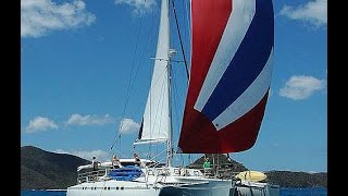 Trimaran Freedom for Caribbean Sailing Vacations - BVI Catamaran Charters