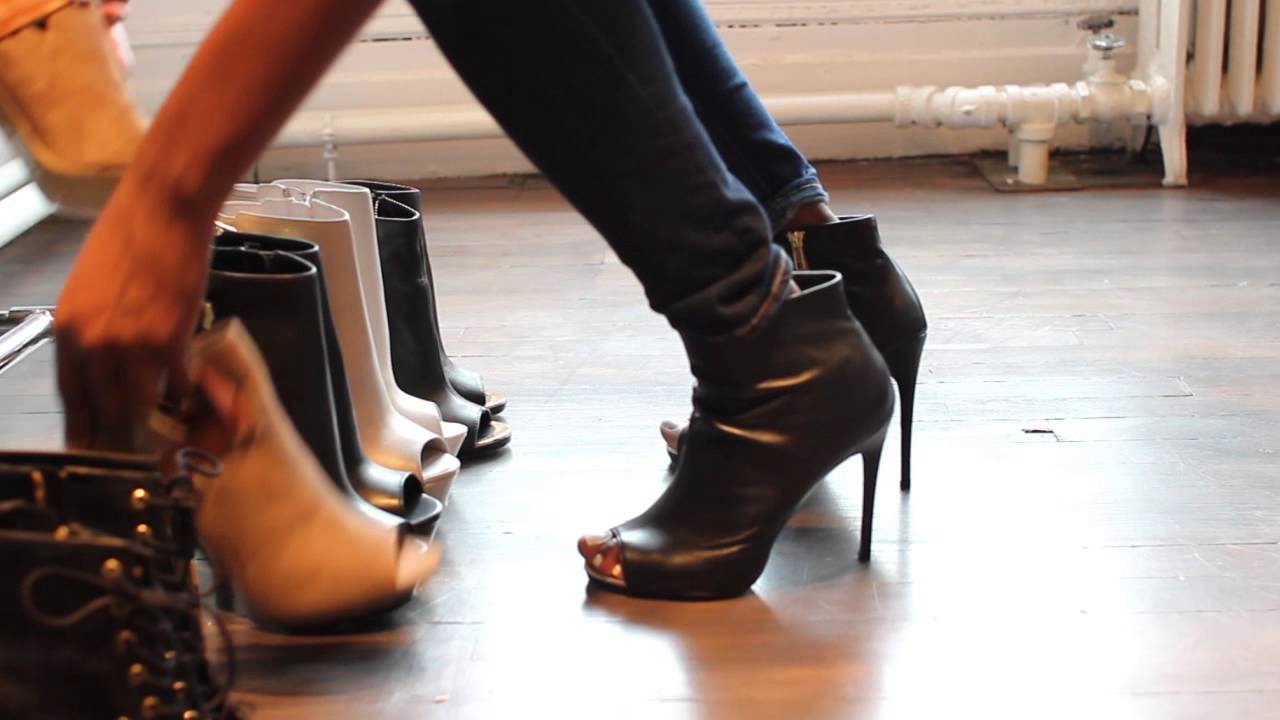 bdab402c660346 How to Wear: Peep Toe Booties - YouTube
