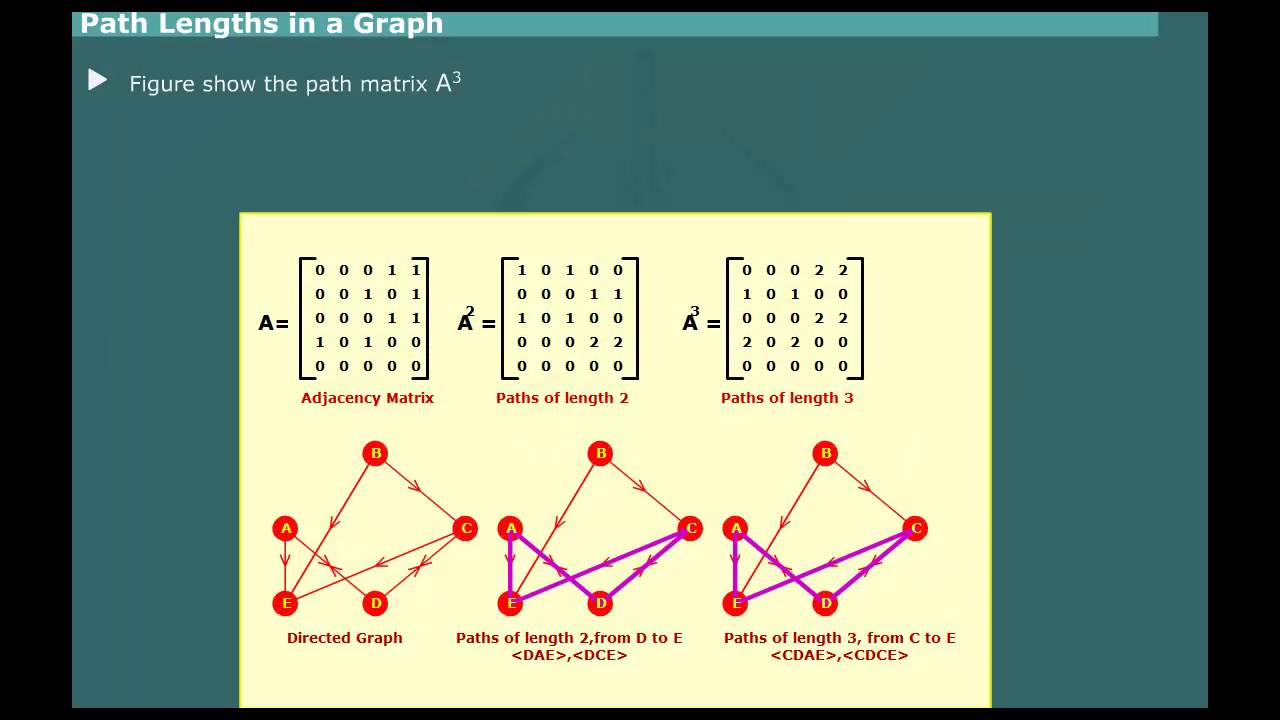 floyed warshall algorithm graph path matrix lengths