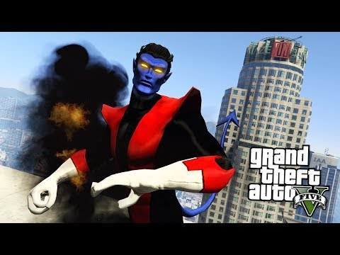 GTA 5 Mods - X-MEN NIGHTCRAWLER MOD w/ TELEPORTATION!! GTA 5 Nightcrawler Mod! (GTA 5 Mods Gameplay)