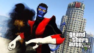 GTA 5 Mods - X-MEN NIGHTCRAWLER MOD w/ TELEPORTATION!! GTA 5 Nightcrawler Mod! (GTA 5 Mods Gameplay)