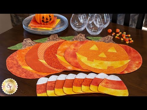 How to Make Pumpkin Placemats & Candy Corn Coasters | A Shabby Fabrics Sewing Tutorial
