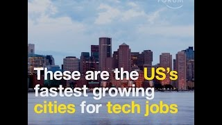 These are the US's fastest growing cities for tech jobs