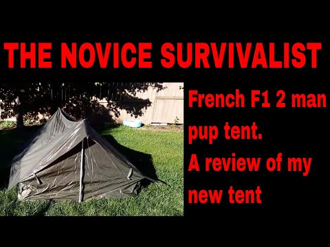 NS French Army F1 2 man pup tent