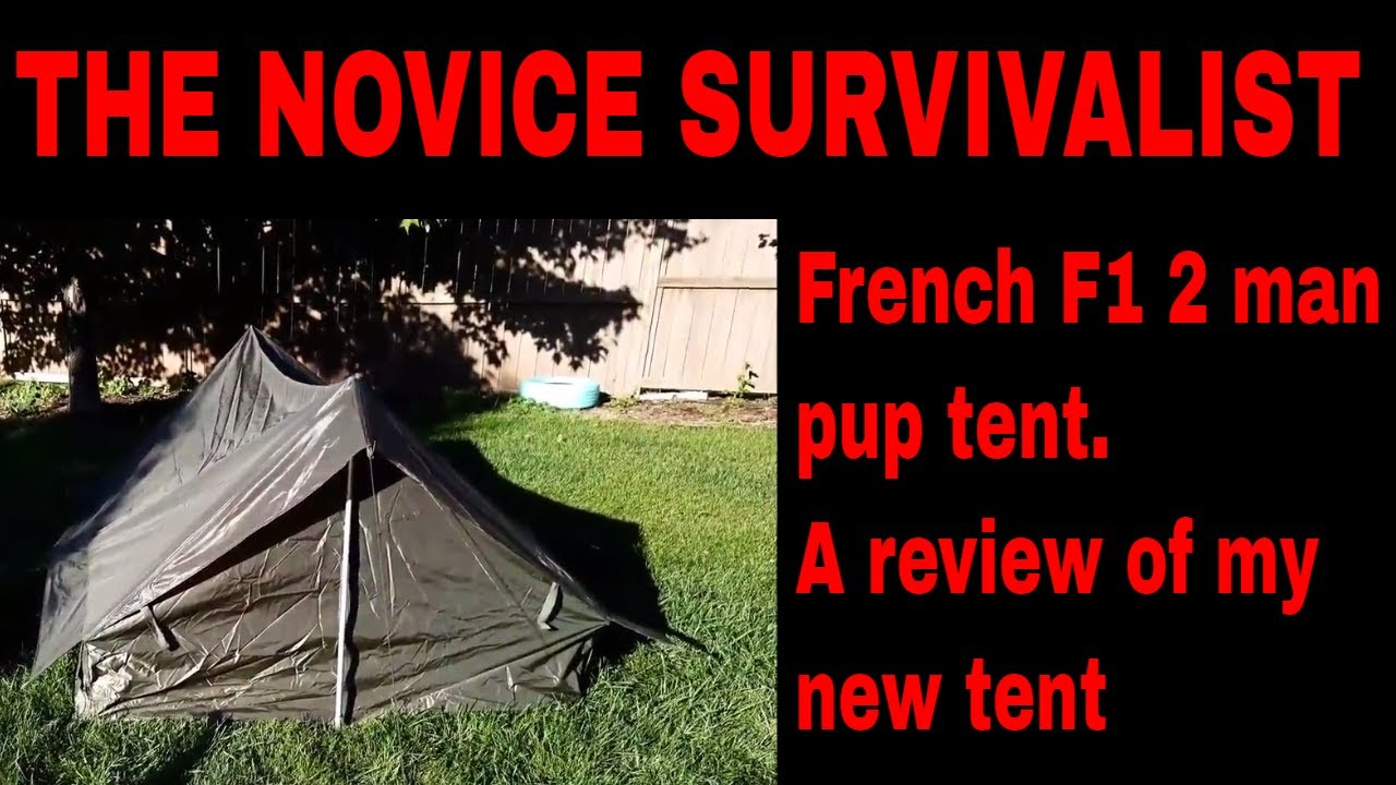 NS French Army F1 2 man pup tent  sc 1 st  YouTube & NS French Army F1 2 man pup tent - YouTube