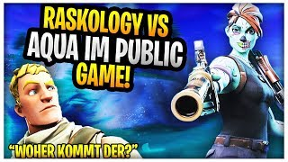 Aqua VS Raskology in public game😱| Amar Shows GEILEN Fortnite Glitch | Fortnite Highlights English