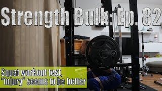 Squat workout test, injury seems to be better   Vlog   Strength Bulk Ep. 82
