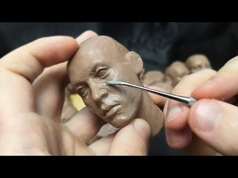 Как лепить голову человека из пластилина