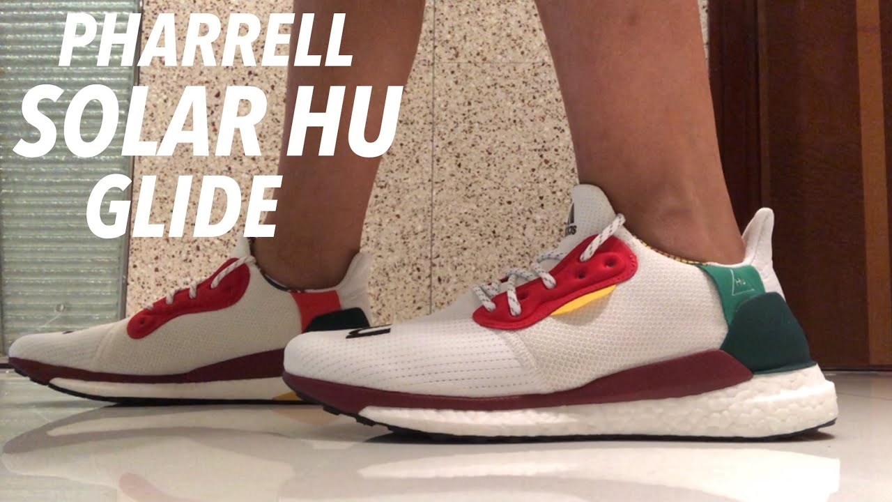 ea6063dfee0 PHARRELL WILLIAMS X ADIDAS SOLAR HU GLIDE UNBOXING+ON-FOOT REVIEW ...