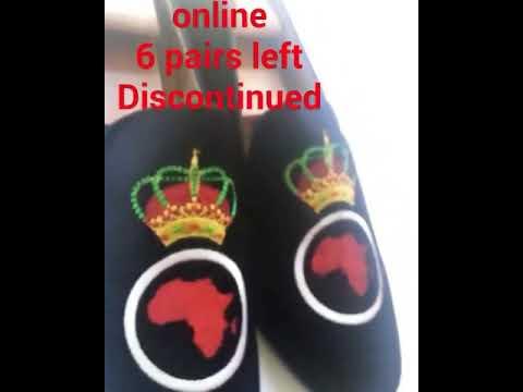 Men red Africa Map Pan-Africa Black Velvet Loafers Shoes