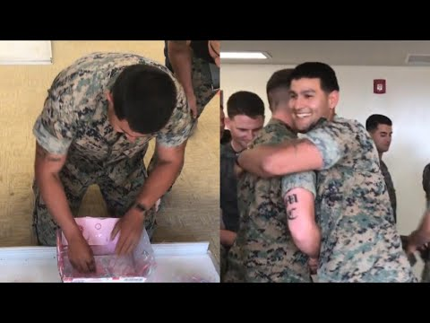 Marine Gets Gender Reveal Care Package 8,000 Miles Away from North Carolina Home