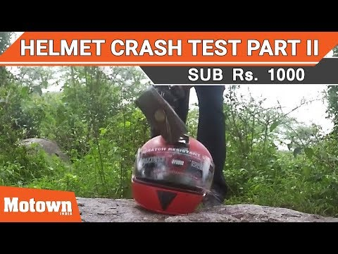 Helmet crash test Part II