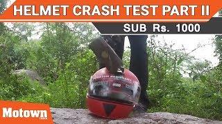 Helmet crash test Part II