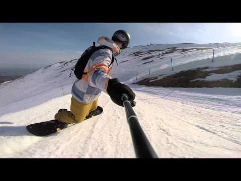 SNOWBOARD KASPROWY WIERCH 91,87km/h GPS SPEED HD HERO 3+ 2015.04.24
