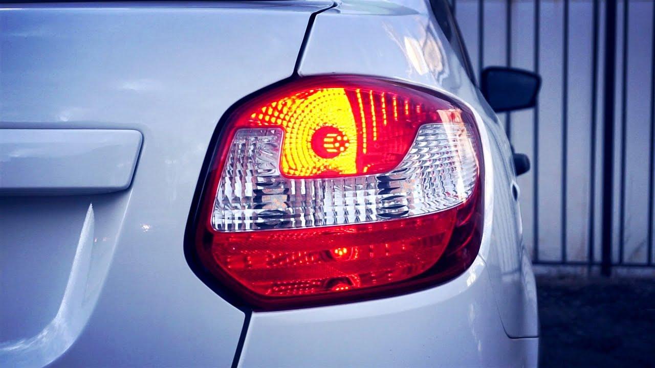 LADA ГРАНТА FL лифтбек - замена ламп R10W, P21W, C5W, W5W на LED. Диодные габариты,стопы и подсветка
