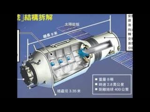 Tiangong 1 space station expected to hit the United States sometime during the late part o