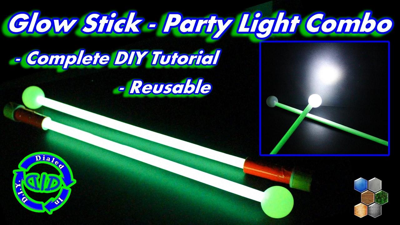 Make Reusable Glow Stick Party Light Combo Fun Glow Project
