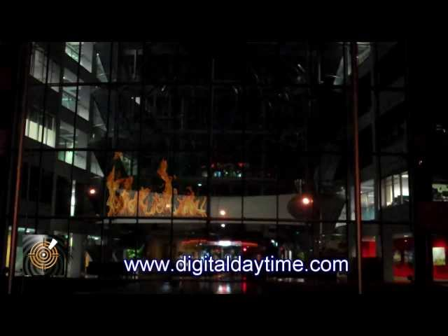 Revolutionary Digital LED Glass Screen technology for windows and buildings from ICE LED