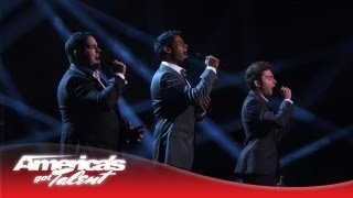 "Forte Tenors - Powerful ""Unchained Melody"" Cover - America's Got Talent Semi-Finals 2013"