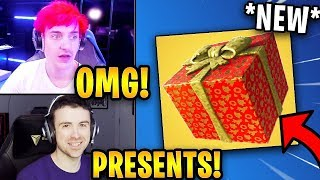 Streamers React to *NEW* FREE Christmas Presents! | Fortnite Highlights