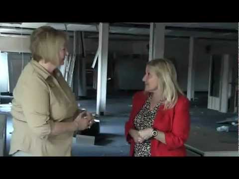 Deb Denys visits Burns Science and Technology Charter School new extension