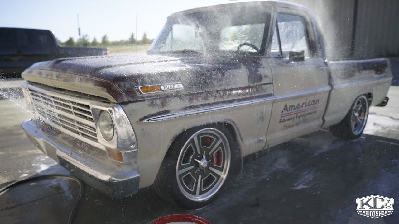 2017 sema build f100 showcase youtube for Kc paint shop
