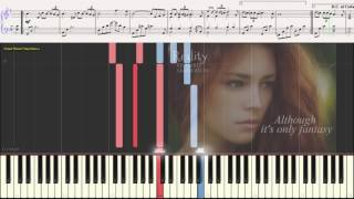Reality - Richard Sanderson (Ноты и Видеоурок для фортепиано) (piano cover)