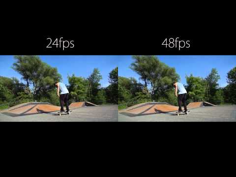 24 vs 48 frames per second skateboarding action footage