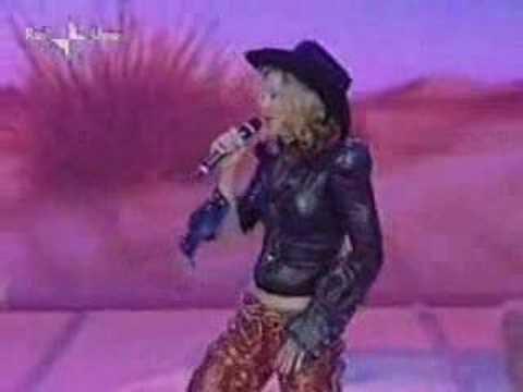 Madonna -Don't Tell Me (Live at the Rafaella Carra show)