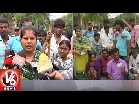 Geetanjali Gems & Jewellery Employees Stage Protest In Hyd, Demand Alternate Jobs | V6 News
