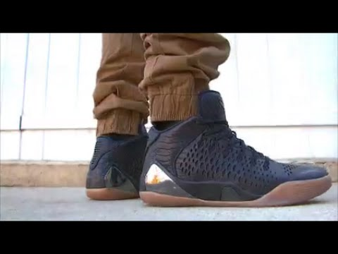 cheaper f9498 46a0e Nike Kobe 9 Ext mid (snake skin) on foot   feet + 3M test - YouTube