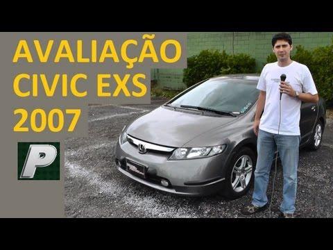 Ca ador de Carros Honda Civic EXS 2007 autom tico EM DETALHES