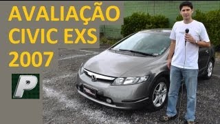 Caçador de Carros: Honda Civic EXS 2007 automático EM DETALHES