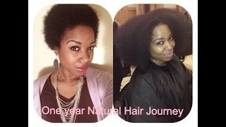 One Year Natural Hair Journey (4b/4c hair) | Natural Hair Inspiration