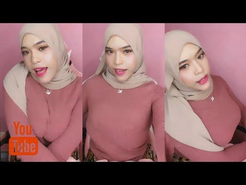 Download Rekomendasi Hijab Style hijab coklat montok baju pink