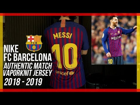 quality design d8b9c 4cb36 NEW BARCELONA JERSEY 2018-2019 - Nike Authentic Match VaporKnit - Lionel  Messi