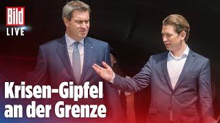 Bayerns ministerpräsident markus #söder (csu) und Österreichs kanzler sebastian #kurz (Övp) haben sich klar gegen neue grenzschließungen im kampf #coro...