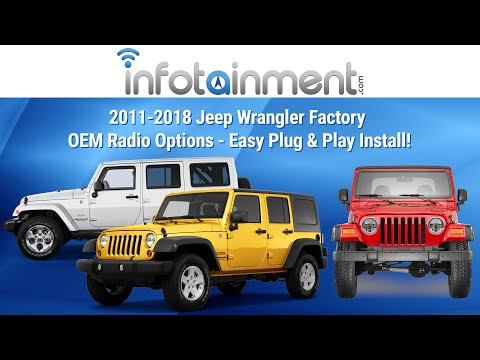 2011-2017 Jeep Wrangler Factory OEM Radio Options - Easy Plug & Play Install!