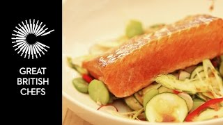 How to marinate and sous vide salmon
