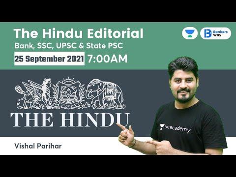 The Hindu Editorial Analysis   The Hindu Analysis   25 September 2021   By Vishal Parihar