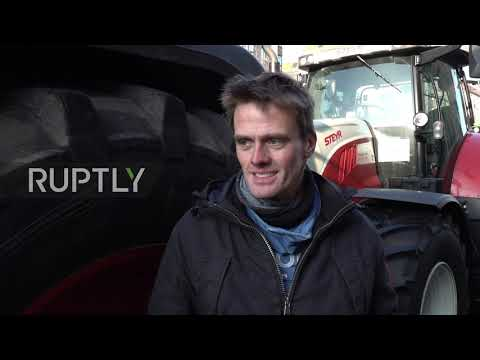Germany: Farmers bring tractors to agriculture policy protest in Berlin