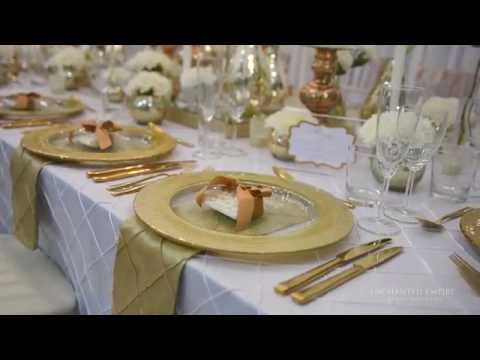 Gold and White Opulence Wedding, styled by Enchanted Empire, Event Artisans