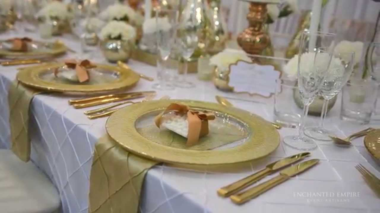 Gold And White Once Wedding Styled