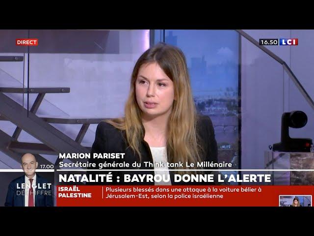 Intervention de Marion Pariset, Secrétaire générale du Millénaire sur LCI du 16/05/2021