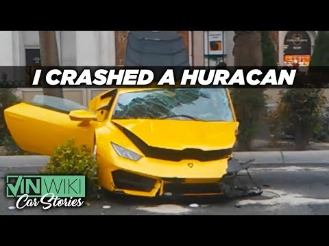 I crashed a rented Lamborghini Huracan in Las Vegas