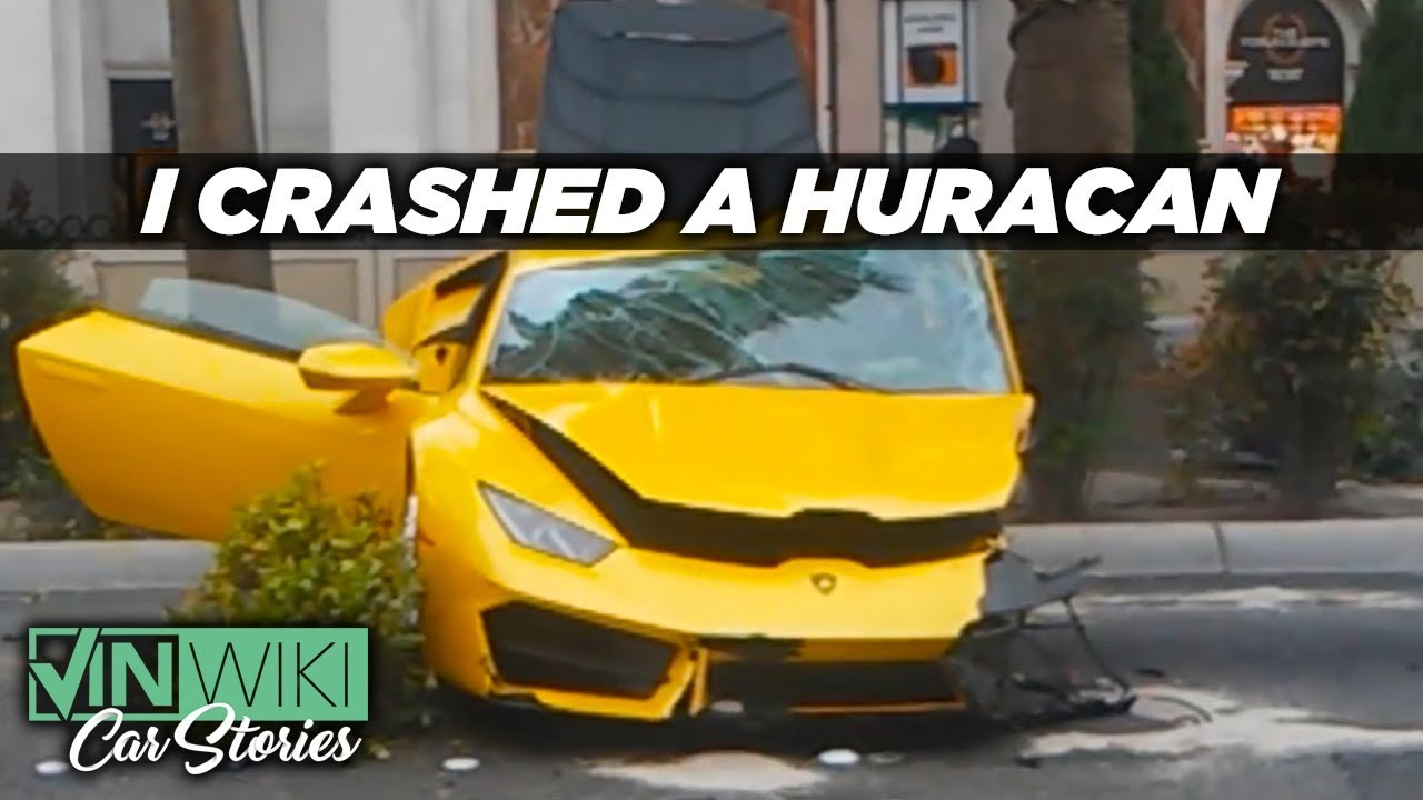I Crashed A Rented Lamborghini Huracan In Las Vegas Youtube