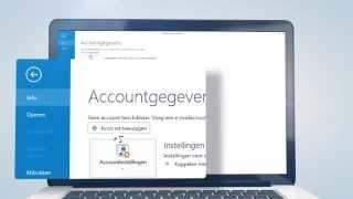 Outlook 2013 instellen via IMAP